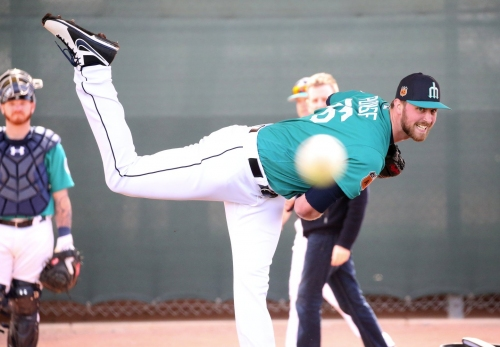 Mariners re-assign five players to minor league camp, including right-handers Max Povse and Andrew Moore