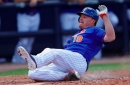 Jay Bruce's body isn't used to taking grounders