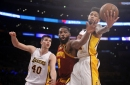 Tristan Thompson leaves game with mouth injury