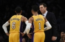 Lakers Podcast: Why did it take so long for D'Angelo Russell and Jordan Clarkson to start together?