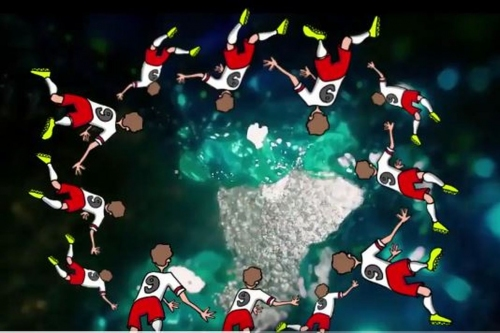 We gave that diving Red Bull the Shooting Stars treatment