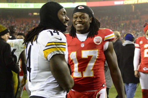 Looks like Chiefs WRs Jeremy Maclin and Chris Conley are working out together again