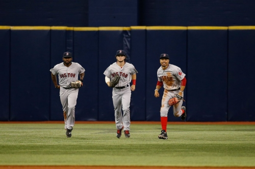 Red Sox outfield graces the Sports Illustrated cover
