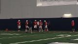 Auburn OC Chip Lindsey working w/ QBs Jarrett Stidham & Sean White