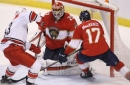 Reto Berra can't stop Hurricanes from snatching win from Panthers