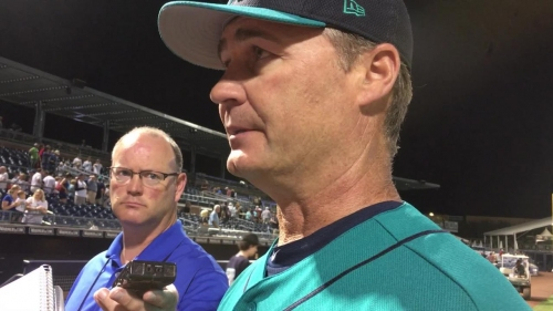 Mariners starter Chris Heston surrenders six runs in an inning in a 8-5 loss to the A's