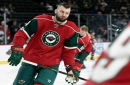 Martin Hanzal celebrates reunion with family, first goal with Wild