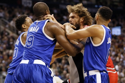 Robin Lopez and Serge Ibaka suspended one game for punching each other