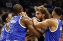 NBA suspends Serge Ibaka and Robin Lopez for throwing punches during an altercation