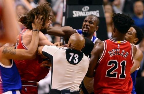 Raptors' Serge Ibaka, Bulls' Robin Lopez suspended one game each for skirmish