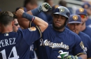 Jesus Aguilar homers again, but Milwaukee Brewers can't climb over Giants