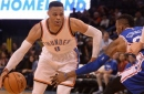 Westbrook posts 35th triple-double; Thunder roll past 76ers