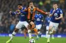 Everton team-mates Ashley Williams and Seamus Coleman prepare for international argument