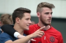 Manchester United's David De Gea gets a message from Ander Herrera about Real Madrid