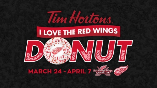 Dylan Larkin to serve 'I I Love the Red Wings' doughnuts at Tim Hortons