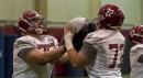 Alabama lineman knows it's weird, but he really likes running