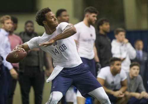 QB DeShone Kizer's chaotic audition tour continues at Notre Dame Pro Day