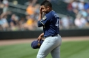 Milwaukee ace implodes, Brewers fall to Oakland 15-5