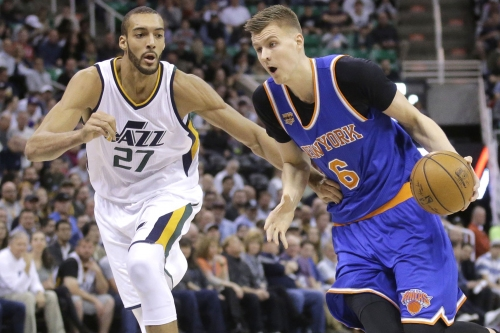 Knicks and Porzingis blitzed by Jazz's monster big man