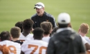WWE star The Undertaker visits Longhorns practice, shares life story