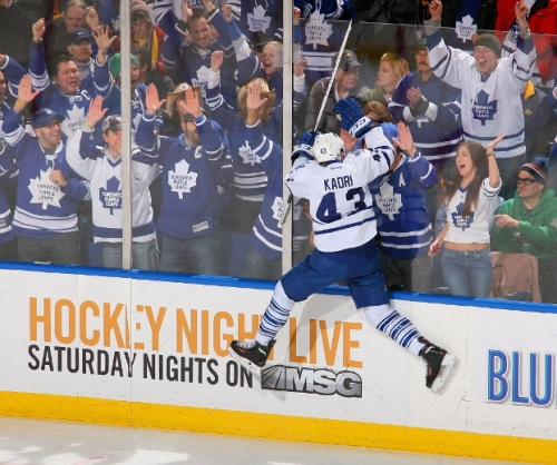 Kadri plays 400th NHL game as Leafs take on Sabres