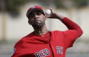 David Price, Boston Red Sox lefty, seems unlikely to pitch in April; has he made any progress lately?