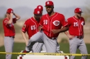 Reds beat A's, lose to Cubs in split-squad action