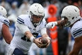 Tanner Mangum deals with rainy, sloppy conditions again in BYU's spring scrimmage
