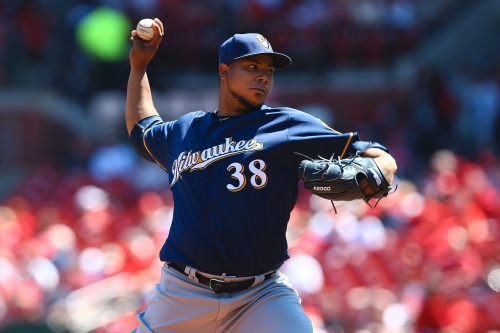 Wily Peralta on the hill for Brewers against Royals