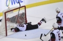 Coyotes hang with Capitals, who pull away late
