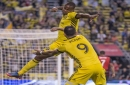 Hansen's late goal lifts Crew over Timbers 3-2 The Associated Press