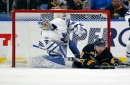 Leafs' Andersen hurt in game against Sabres