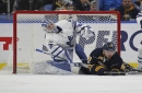 Toronto Maple Leafs suffer key setback to Buffalo Sabres 5-2, lose goaltender Frederik Andersen to injury