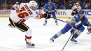 Blues salvage a point in overtime loss to Brian Elliott, Flames
