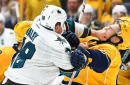 Sharks' Michael Haley levels opponent with brutal knockout punch
