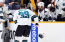Logan Couture flew home with team, status unclear
