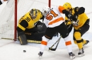 Flyers score 4 goals in third to thrash Penguins