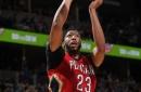 Minus Cousins, Pelicans top Nuggets 115-90 behind Davis' 31 (Mar 26, 2017)