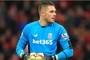 Jack Butland returns successfully to full training at Stoke City
