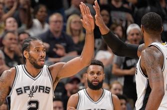 Leonard scores 25 as Spurs dismantle ailing Cavs, 103-74