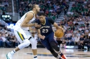 Anthony Davis explosive again but Jazz ride hot outside shooting to beat Pelicans, 108-100