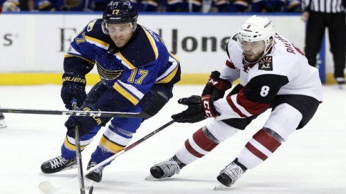 Floodgates fully open for Schwartz as Blues beat Coyotes