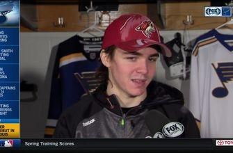 Coyotes' Keller on making his NHL debut in hometown St. Louis