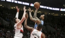 Jusuf Nurkic dominant against old team as Blazers deal crippling blow to Nuggets' playoff hopes