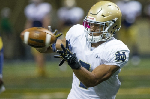 Nick Watkins finally turning the corner, ascending at Notre Dame