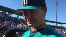 Hisashi Iwakuma struggles in his final out of the spring for the Mariners