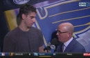 Schmaltz on staying ready to play for Blues