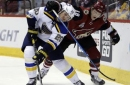 Blues hold off Coyotes to sweep home-and-home