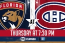 Florida Panthers at Montreal Canadiens game preview