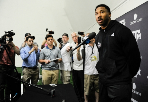 A&M pro day: With nothing to prove, Myles Garrett proves himself anyway